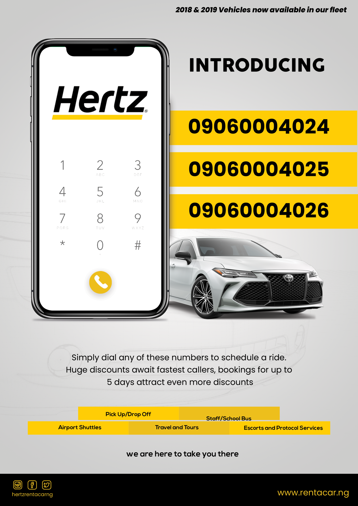 Phone numbers for Hertz Nigeria